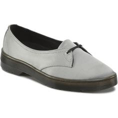 Dr. Martens Morada Casual Shoes ($45) ❤ liked on Polyvore featuring shoes, flats, silver, ballet flat shoes, ballet shoes, skimmer shoes, dr martens shoes and ballerina shoes