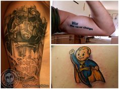 fallout tattoo war never changes