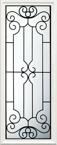 Castlegate Series CS-686 Exterior Door Art Glass 22-option Iron Window Grill, Window Grill Design, House Front Design, Door Design, Steel Gate Design, Balcony Railing Design, Wrought Iron Stairs, Metal Gates, Steel Art
