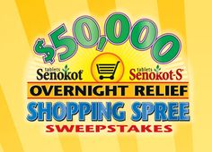 Senokot Overnight Relief $50,000 Shopping Spree Sweepstakes