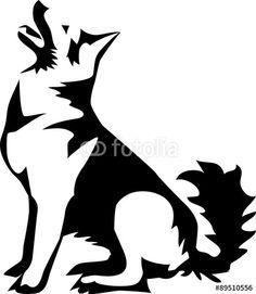 "sitting german shepherd dog"" Stock image and royalty-free vector ..."