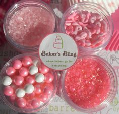Pink Ribbon Breast Cancer Awareness Sprinkle by BakersBlingShop, $9.95