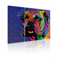 Quadro Bulldog: trittico