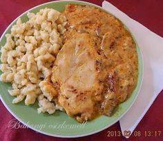 Bakonyi csirkemell Hungarian Cuisine, Hungarian Recipes, Bon Appetit, Meat Recipes, Macaroni And Cheese, Food And Drink, Chicken, Dinner, Cooking