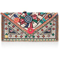 Accessorize Shelley Envelope Clutch Bag (94 BRL) ❤ liked on Polyvore featuring bags, handbags, clutches, purses, multi colored clutches, envelope clutch, multi color purse, colorful clutches and colorful purses