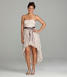 Teeze Me Strapless HiLow Dress #Dillards  SO PRETTY!