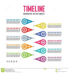 Infographic Vector Concept In Flat Design Style - Timeline Template - Download From Over 37 Million High Quality Stock Photos, Images, Vectors. Sign up for FREE today. Image: 42640949