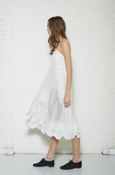 Comme des Garçons Comme des Garçons / Long Silk Slip Dress  Repetto / Zizi Anglaise Oxford #lagarconneatelier