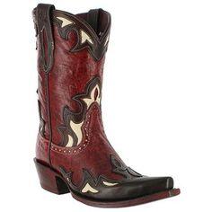 "Ariat Women's 9"" Reina Wingtip Flame Cowboy Boots"