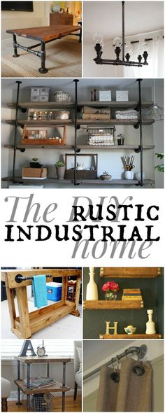 Kerry Angelos | 7 Ways to a DIY Rustic Industrial Home | http://kerryrangelos.com