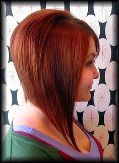 Long tapered inverted bob clean cut