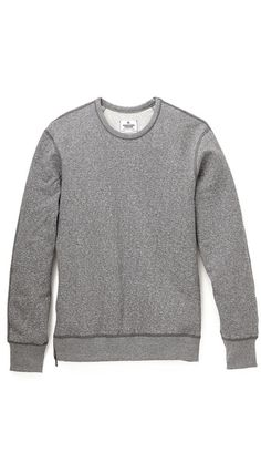 Side Zip Sweatshirt   Reigning Champ via EastDane - $101.50