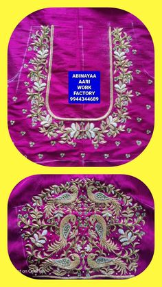 Best Blouse Designs, Bridal Blouse Designs, Pattu Saree Blouse Designs, Hand Work Blouse Design, Maggam Works, Designer Blouse Patterns, Hand Designs, Embroidered Blouse, Indian Style