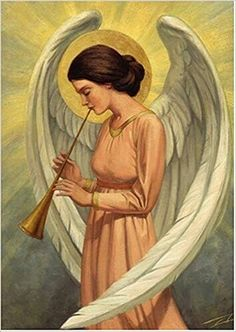 card of angel playing trumpet Angels Beauty, Angel Pictures, Angels Among Us, Guardian Angels, Angel Art, Old Master, Freelance Illustrator, Christian Art, Cherub