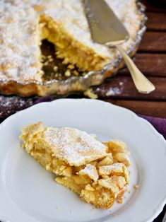 Linecký koláč s jablky Fruit Pie, French Toast, Sweet Tooth, Muffins, Food And Drink, Bread, Cooking, Breakfast, Recipes