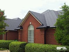 Charcoal Grey Interlock® Slate Roof from Dallas, Texas. Installation by Metal Roofs of Texas.  http://interlock.bestroof.com/pinterest/ - Call 1-866-733-5811