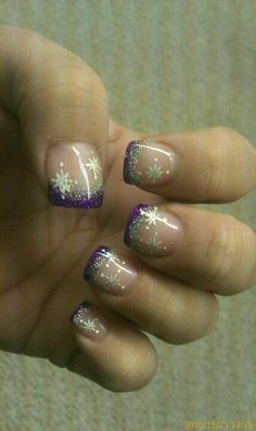 My winter nails (But for me, without the purple)