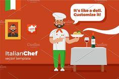 Italian chef by Repa design bureau on @creativemarket