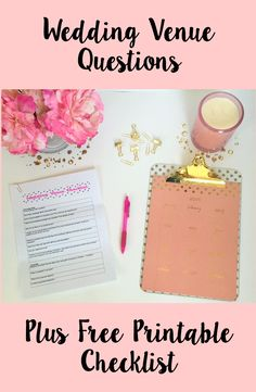 Wedding venue questions plus free printable checklist