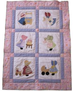 I like the size of these borders. Patchwork Blanket, Patchwork Baby, Patchwork Quilting, Applique Quilts, Quilting Projects, Quilting Designs, Sewing Projects, Cute Quilts, Old Quilts