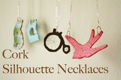 I just adore them via Jessica@Happy  together and Flickr. Cork silhouette Necklace tutorial.