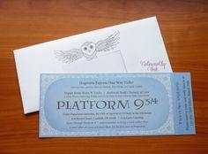 Harry Potter Hogwarts Express Baby Shower Invitation by Noteworthy Ink  www.noteworthyink.com