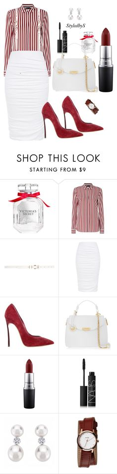"""StyledbyS"" by sforstylebys on Polyvore featuring Victoria's Secret, Tommy Hilfiger, Dorothy Perkins, Casadei, Versace, MAC Cosmetics, NARS Cosmetics, Nixon, women's clothing and women's fashion"