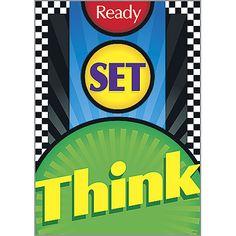 """Ready. Set. Think!"" (TA-67210) #classroom #decor #AILtyler"