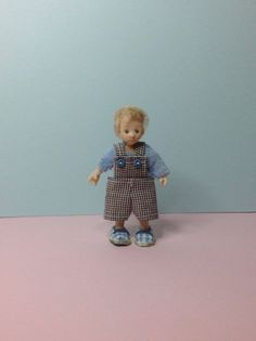 Handmade Miniature Boy Toddler Dollhouse Sculpted 1:12th Scale Art Doll
