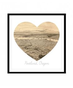Display a little shout out to your hometown. This heart-shaped artwork features a vintage map, comes in different sizes, and is available in a round version, too.