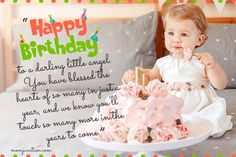 106 Wonderful Birthday Wishes And Messages For Babies First Birthday Wishes. 106 Wonderful Birthday Wishes And Messages For Babies First Birthday Wishes For Daughter Happy 1st Birthday Wishes, 1st Birthday Quotes, Happy Birthday Baby Girl, Birthday Wishes For Daughter, Birthday Captions, Happy 1st Birthdays, Birthday Ideas, Birthday Cards, Baby Captions