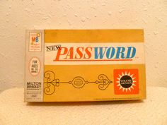Vintage Password Board Game from 1966 by SecretsOfTheUniverse, $14.00