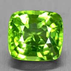 3.71 Cts Natural Top Mother's Day Green Peridot Loose Gemstone Cushion Cut Burma #Unbranded