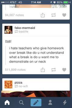 Homework over summer
