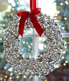 lovely silver bell wreath  http://rstyle.me/n/t8bm2pdpe