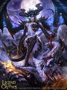 Artist: Kazuhiro Oya - Title: LOC04 - Card: Dragon Spirit Isadora (Darkwings)