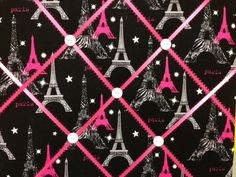 Black Hot Pink and Zebra Paris Photo Memory by rachaelscreations, $14.00