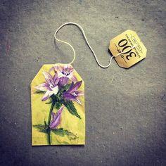 ruby silvious art — 26 Days of Tea in Triteleia Tea Bag Art, Tea Art, Quote Collage, Used Tea Bags, Altered Book Art, Mobile Art, Collage Vintage, Handmade Books, Miniture Things