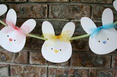 Easter Bunny Banner Easter Garland Nursery Room by AveryleeDesigns Easter Garland, Easter Banner, Easter Decor, Bunny Party, Easter Party, Spring Crafts, Holiday Crafts, Holiday Decor, Easter Crafts For Kids