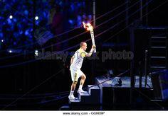 Vanderlei Cordeiro de Lima carries the torch to the cauldron during Rio Olympics opening ceremony, 5th August, 2016. (Stock Photo)  Contributor: Fotoarena / Alamy www.alamy.com http://www.alamy.com/stock-photo-rio-de-janeiro-5th-aug-2016-opening-of-the-rio-2016-olympics-vanderlei-113557970.html