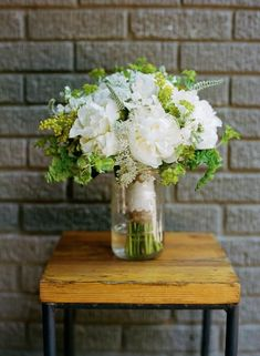 keep the bouquet in water before the ceremony and use it at the reception as a centerpiece for your table