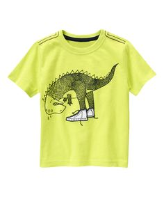 Look at this Neon Cactus Dinosaur Shoes Tee - Toddler & Boys on #zulily today!