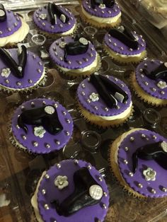 Ciroc soaked hairdresser themed cupcakes