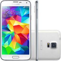 Smartphone Samsung Galaxy S5 SM com Tela 5.1´, Android 4.4, 4G, Câm.16MP e Processador Quad Core 2.5GHz  de R$ 2383,55 por R$ 1230,88 na Casas Bahia #cuponamao #desconto #oferta