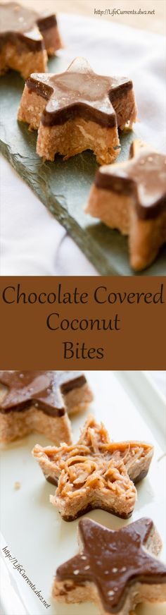 Chocolate Covered Coconut Bites, a vegan, Paleo-friendly, gluten-free dessert treat . Another deceptive dessert treat! They taste like they're filled with naughtiness, but in reality, they're filled with nice!