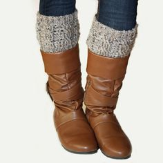 Cabled Boot Cuffs Crochet Pattern PDF INSTANT by knotsewcute