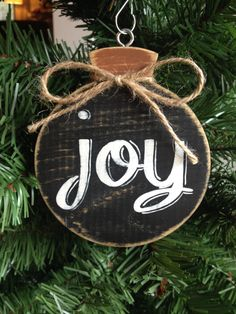 Joy Chalkboard Hand Painted Holiday Wood by CelebrateOrnaments, $12.00