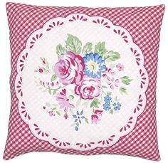 GreenGate Cushion Cover Ida Raspberry Application 40 x 40 cm