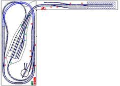 Originele track plannen geproduceerd op ons CAD-systeem.  Dit vormt de basis voor het uitsnijden en de constructie van de plinten.