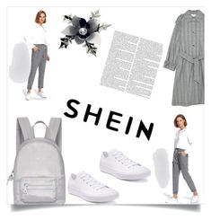 """shein#gagi"" by gagi273 ❤ liked on Polyvore featuring Converse, Fiorelli and Ultimate"